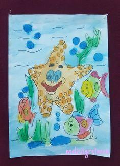 Sulu boya çalışması okul oncesi