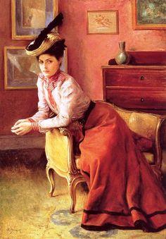 Французский художник Jules Emile Saintin (1829-1894)