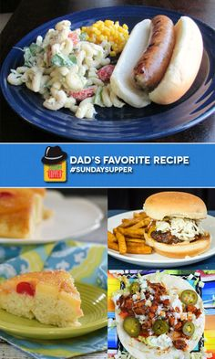 40+ Manly Recipes for Father's Day and what Dad really wants! #SundaySupper sharing Dad's Favorite Recipes!