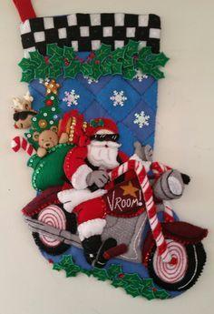 First Christmas, Christmas Wreaths, Christmas Crafts, Christmas Ornaments, Christmas Wishes, Santa Stocking, Felt Stocking, Stocking Ideas, Nightmare Before Christmas Wreath