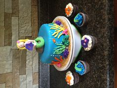 Mermaid 4th Birthday Cake 100% edible!