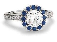 Resultado de imagen para sapphire engagement ring on hand