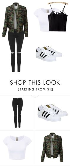 """my fav"" by hannahgeddon on Polyvore featuring Mode, Topshop, adidas und LE3NO"