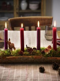 The advent season is getting closer and closer with giant steps. You don& have an advent wreath yet? No problem! Here are eight simple ones Christmas Star Decorations, Diy Christmas Tree, Christmas Centerpieces, Country Christmas, Christmas Pictures, Christmas Time, Xmas, Christmas Stockings, Christmas Wreaths