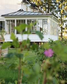 If you're who want to enhance a conservatory green-house for your house, this informative article gives you tons of fulfilling inspirations regarding how to usher in mother nature. What Is A Conservatory, Modern Conservatory, Glass Porch, Country Home Exteriors, Swedish Cottage, Enclosed Patio, Victorian Farmhouse, House With Porch, Screened In Porch