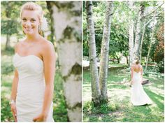 Rustic Blue Wedding in Ontario By Andrew Mark Photography Love the groom-style. Love the dress.