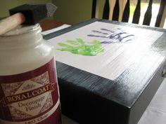 Mommyhood Craft Corner: Attractive Artwork Storage Box
