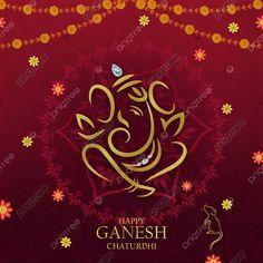 Bright Background, Background Banner, Vinayaka Chaturthi Wishes, Oil Painting Tips, Painting Art, Indian Paintings, Art Paintings, Happy Ganesh Chaturthi, Celebration Background