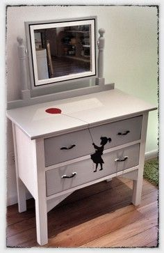 Upcycled, restored, transformed and revamped old furniture