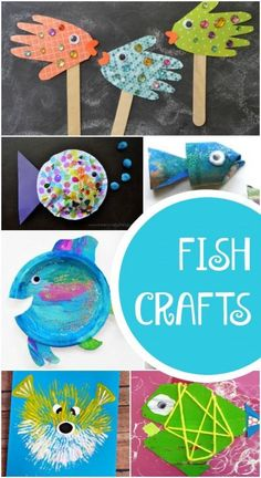 Fun Fish Crafts for Kids-Make these after a visit to the beach or an aquarium. Or use them for a fish theme, ocean theme, or Letter F activity for preschoolers