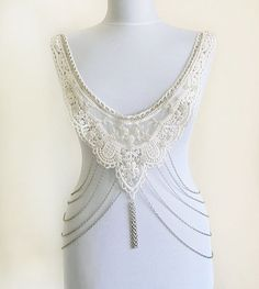BODY Lace Necklace Steampunk Lace Collar ivory bib by aynurdereli, $59.00