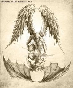 Angels and Demons Tattoo Designs | half sleeve tattoo ideas taurus tattoos for men phoenix tattoos for ...