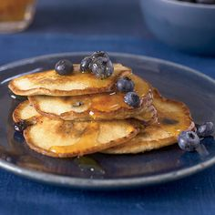 Ricotta Pancakes with Blueberries | Fresh ricotta makes these pancakes incredibly moist and light.