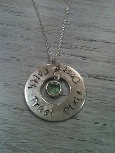 Faith Trust Pixie Dust Hand Stamped Sterling by SilverBlissShop, $36.00