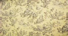 Light Cream and Grey Toile Home Decor Fabric by ShopMyFabrics