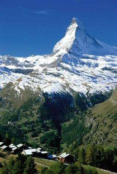 Tufteren-Alm mit Matterhorn, Kanton Wallis, Alpen, Schweiz