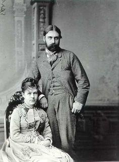 "Ellen Wrenshall ""Nellie"" Jones (1855 - 1922) and her husband Algernon Sartoris. Ellen was the third child and only daughter of former President Ulysses S Grant and Julia Dent Grant"