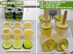 Frozen Lime-a-Rita Pops