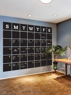Chalkboard Calendar Wall Decal - Extra Large #DIYHomeDecorSmallSpaces