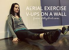 It's been a while since I posted an aerial exercise and this is one of the simplest, but surprisingly difficult ones. It's sort of like boat pose, but since you aren't able to lean back, you have t...
