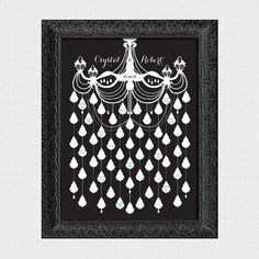 Hey, I found this really awesome Etsy listing at https://www.etsy.com/listing/212481364/chandelier-wedding-signature-guest-book
