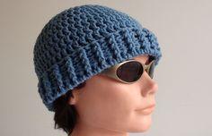 How to Crochet a Men's Crochet Beanie Video Tutorial & Pattern at http://youtu.be/zRWFq1EXems