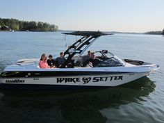 The Barritine family with their new 2013 @bernard resnick Boats 23 Wakesetter
