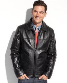 Tommy Hilfiger Jacket, Smooth Lamb Leather Jacket