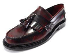 Delicious Junction Rudeboy Tassel Loafers Mod Shoe OxBlood (4)
