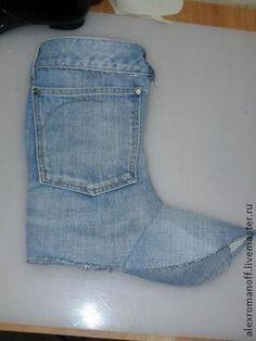 Ideas para el hogar: Botas recicladas con jeans paso a paso