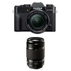Introducing Fujifilm XT10 Black w XF 1855mm  XF55200mm F3548 Lens Kit. Great product and follow us for more updates!