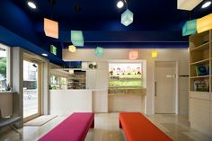 歯科医院。店舗デザイン;名古屋 スーパーボギー http://www.bogey.co.jp
