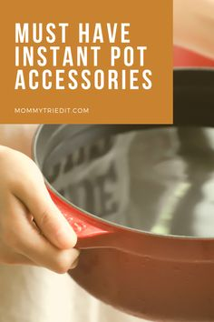 An Instant Pot can save you time, money, and stress. But, to really get the most out of it these three things are must have Instant Pot accessories. Save Yourself, Cooking Tips, Instant Pot, Food To Make, Must Haves, Stress, Blog, Accessories, Dinner Recipes