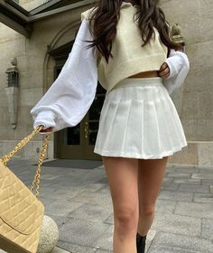 Adrette Outfits, Cute Skirt Outfits, Indie Outfits, Preppy Outfits, Teen Fashion Outfits, Retro Outfits, Girly Outfits, Cute Casual Outfits, Look Fashion