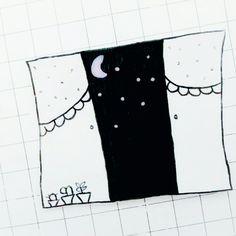 Uma boa noite para sonhar, para um novo dia realizar.  - http://cochcochblog.blogspot.com.br/ - Desenho: Joicy Recco