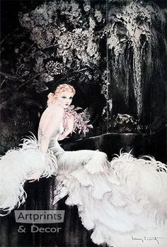 Orchids by Louis Icart - Art Print