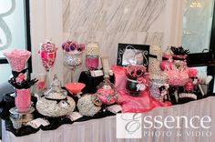 Hot Pink, Black, and white candy bar!