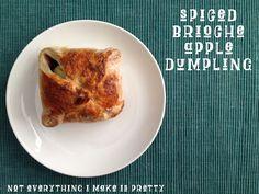 Spiced Brioche Apple Dumpling - The Breakfast Hub