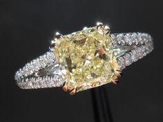Split Shank Yellow Diamond Ring!