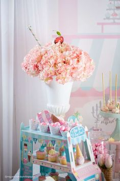 Amazing ice cream birthday party! See more party ideas at CatchMyParty.com!