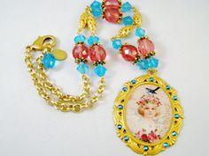 Lady Bird Necklace by PinkChapeau on Etsy, $41.00