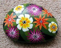on rocks by Judy ng at Painting on rocks by Judy ng at Pebble Painting, Pebble Art, Stone Painting, Diy Painting, Painted Rock Animals, Painted Rocks Craft, Hand Painted Rocks, Rock Painting Patterns, Rock Painting Designs