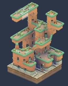 (5) Twitter 3d Pixel, Pixel Art, Broken City, Dungeon Tiles, Future Buildings, Tower Defense, Modelos 3d, Blender 3d, Video Game Art