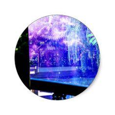 Serenity Garden Dreams Classic Round Sticker