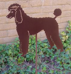 French Poodle Garden Stake Pet Memorial Ornament by HauteSteel, $42.00