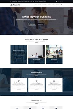 Financial - business & finance consulting psd templatefinancial is designed for finance, consulting & corporate business psd template. financial is a clean Web Design Websites, Web Design Quotes, Web Design Tips, Best Web Design, Website Design Inspiration, Website Design Layout, Web Layout, Layout Site, Corporate Website Design