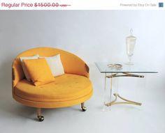 MID CENTURY SALE Adrian Pearsall Havana Chair. Lemon Yellow Mid Century. atr to Craft Associates.