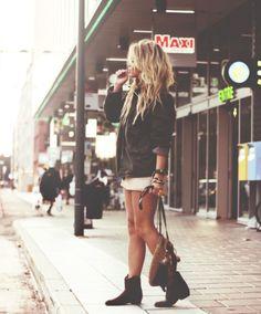 Jacket, Shorts & Boots