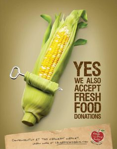 Calgary Food Bank: Corn // makes me hungry all of a sudden // crave for corn