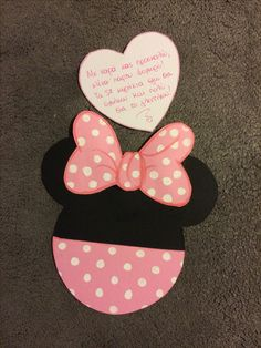 Handmade Minnie Mouse invitation!!!